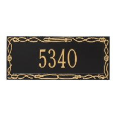 Personalized Sailor'S Knot Plaque, Black / Gold