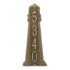 Personalized Lighthouse Vertical - Grande Plaque, Antique Brass