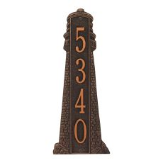 Personalized Lighthouse Vertical - Grande Plaque, Oil Rub Bronze