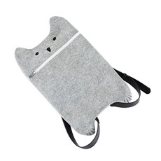 Grey Felt Cat Bag