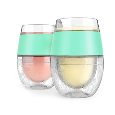 Wine Freeze Cooling Cups In Mint (Set Of 2) By Host