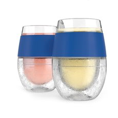 Wine Freeze Cooling Cups In Blue (Set Of 2) By Host