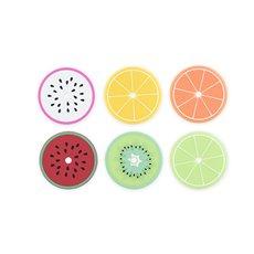 Tropical Fruit Drink Lid Coasters (Set of 6)