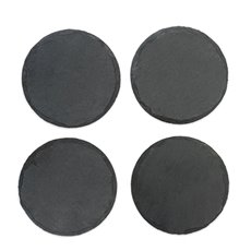 Country Home: Circle Slate Coasters by Twine