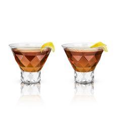 Raye: Gem Crystal Martini Glasses