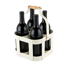 Rustic Farmhouse: Vintage 4 Bottle Carrier by Twine