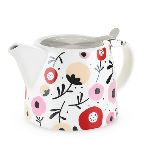 Harper Ceramic Teapot and Infuser in Posy Pattern by Pinky Up