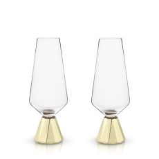 Raye: Spire Crystal Champagne Flutes