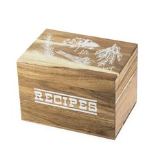 Pantry: Herb Garden Wood Recipe Box by Twine