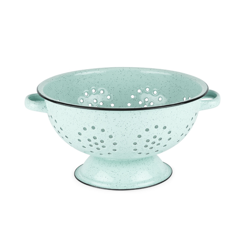 Pantry: Mint Enamel 5 Quart Colander by Twine