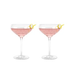 Garden Party: Floral Crystal Cocktail Coupe Set By Twine (Set of 2)