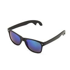 Matte Black with Olivine Lense Bottle Opener Sunglasses by F