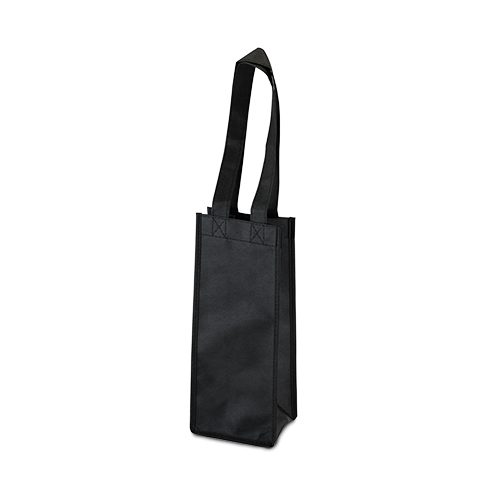 1 Bottle Non Woven Tote in Black