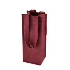 1 Bottle Non Woven Tote In Burgundy