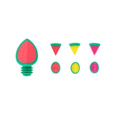 Watermelon wine stopper and charm set