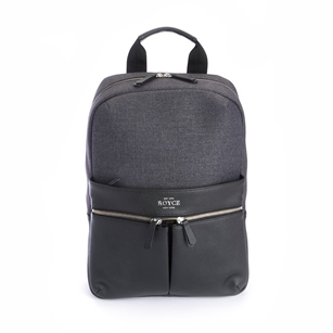 ROYCE Powered Up Power Bank Charging Leather Laptop Backpack (Set of 25)