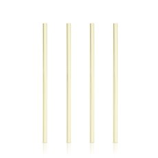 Belmont: Wide Gold Cocktail Straws (Set of 4)