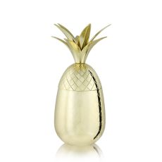 Belmont: 16 oz. Gold Pineapple Tumbler