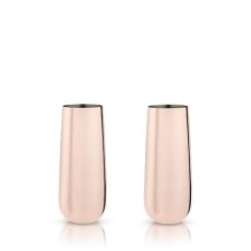 Summit: Stemless Copper Champagne Flutes