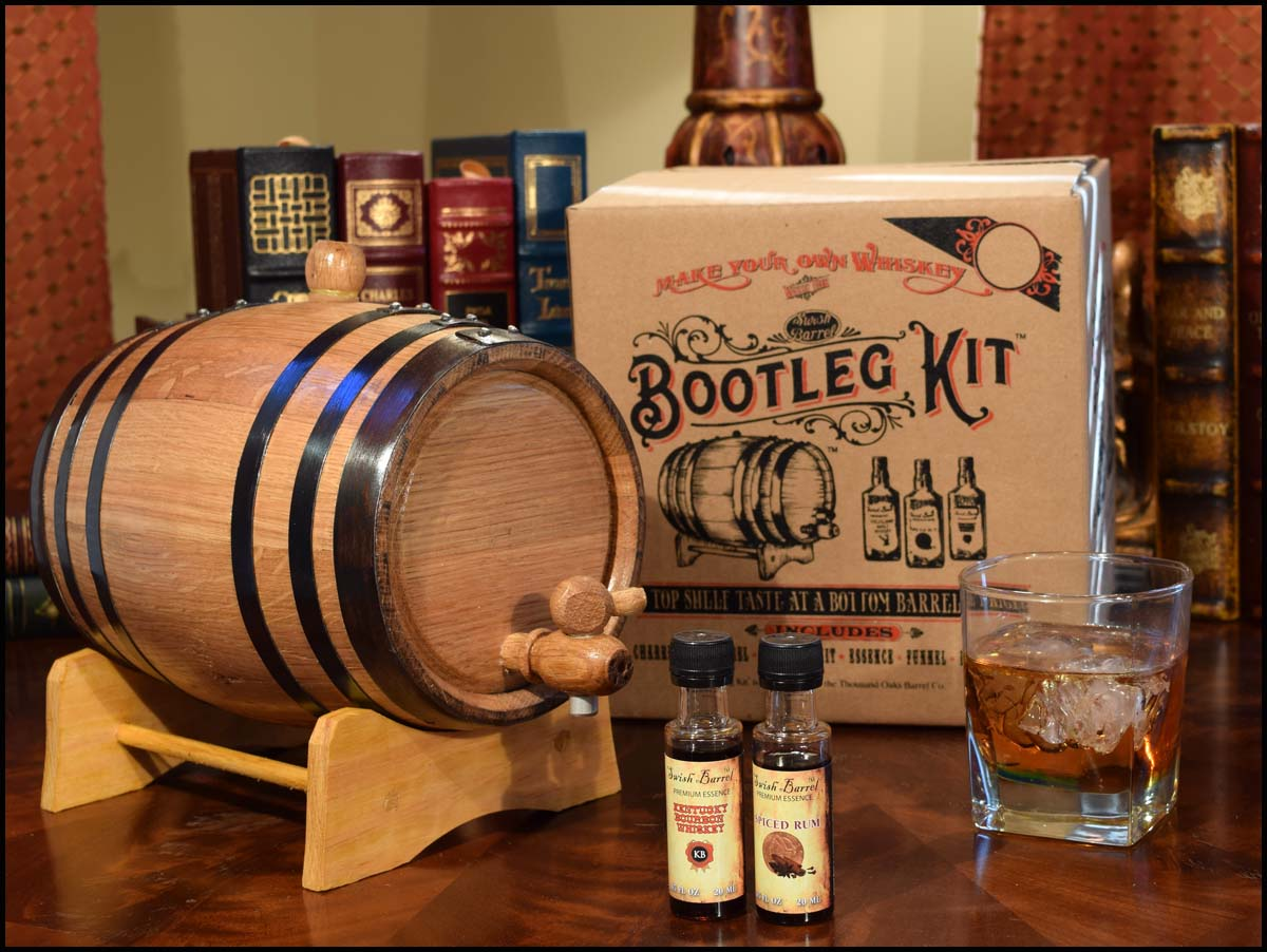 Irish Whiskey Making Bootleg Barrel Kit