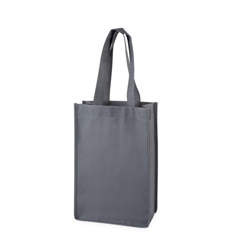 2 Bottle Non Woven Tote in Grey