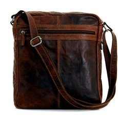 Voyager Large Crossbody, Brown Leather