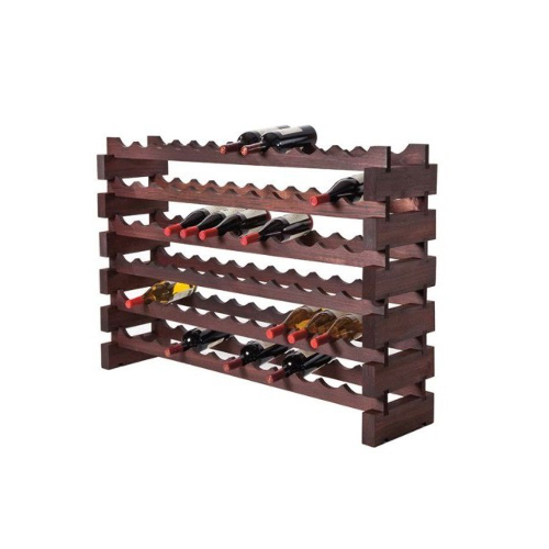 72 Bottle Modular Wine Rack - Stained