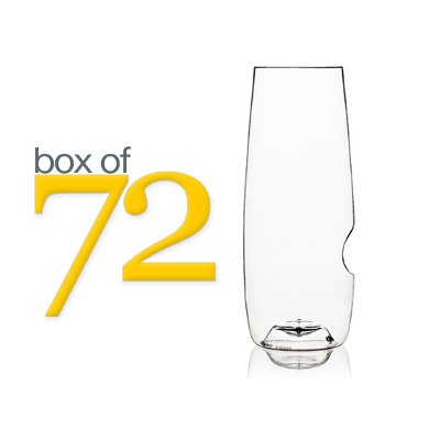 GoVino Stemless Champagne Flutes (box of 72)
