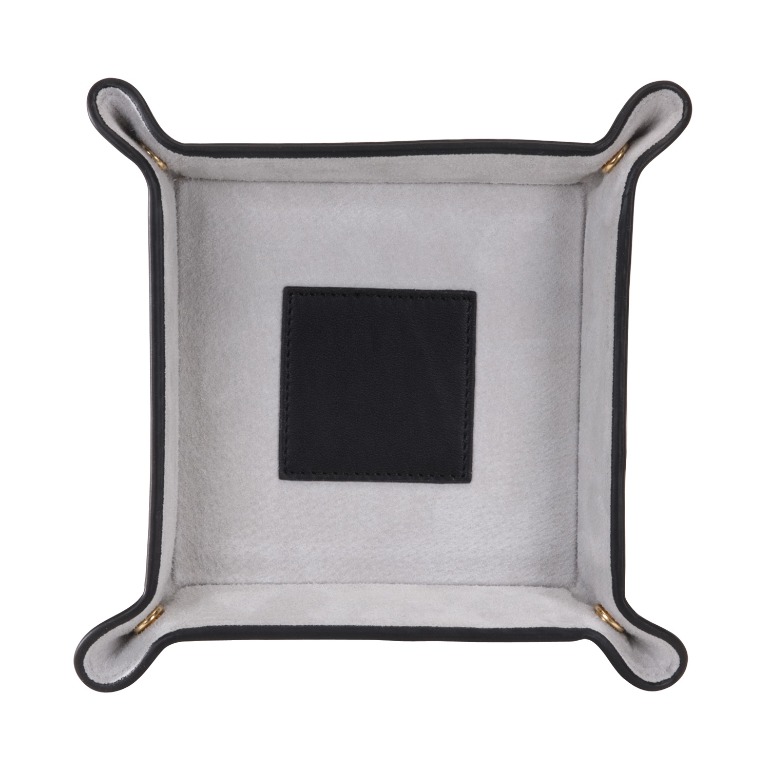 Luxury Suede Lined Catchall Valet Tray in Genuine Leather