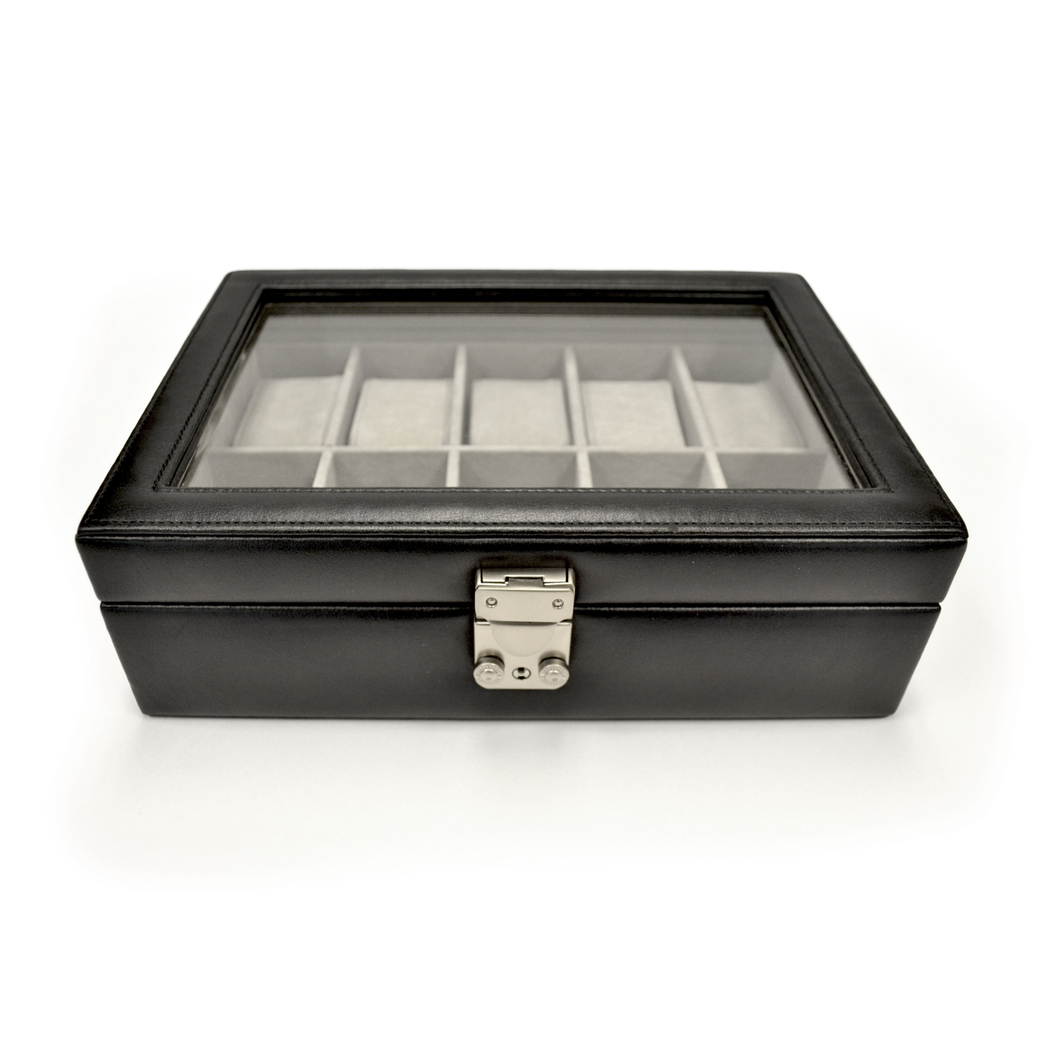 Luxury Ten Slot Watch Box Handcrafted in Genuine Leather
