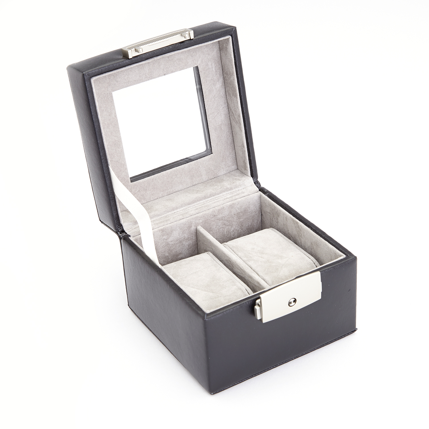 Luxury Two Slot Watch Box Display Case