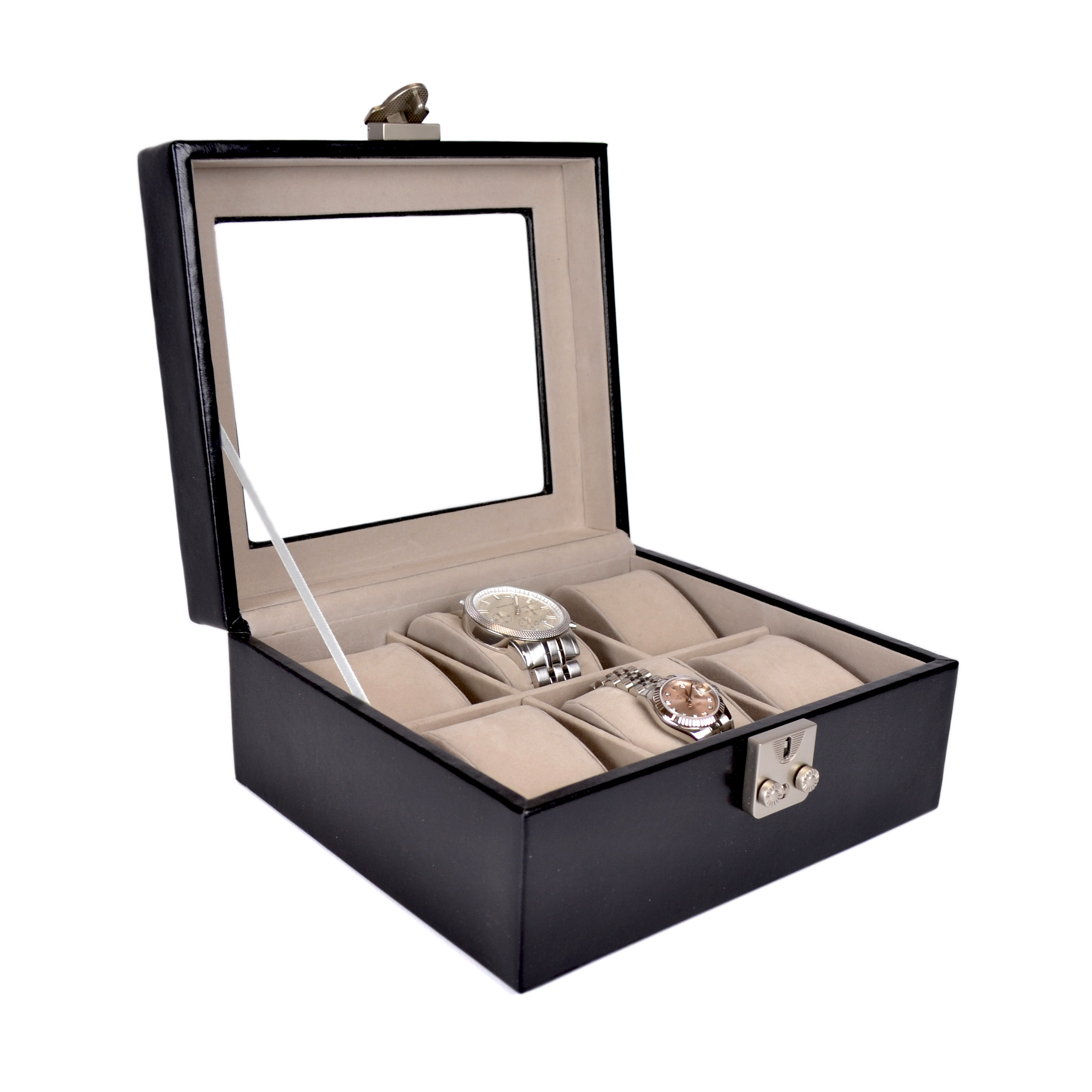 Luxury Six Slot Watch Box Display Case