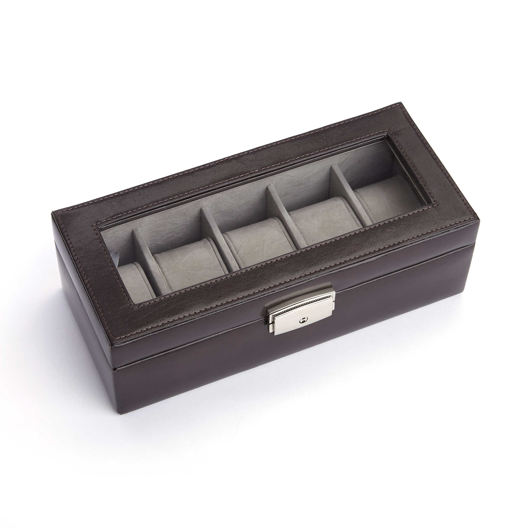 Cufflink Watch Travel Case in Italian Aristo Leather