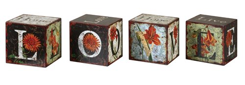 Uttermost Love Letters Decorative Boxes, Set/4