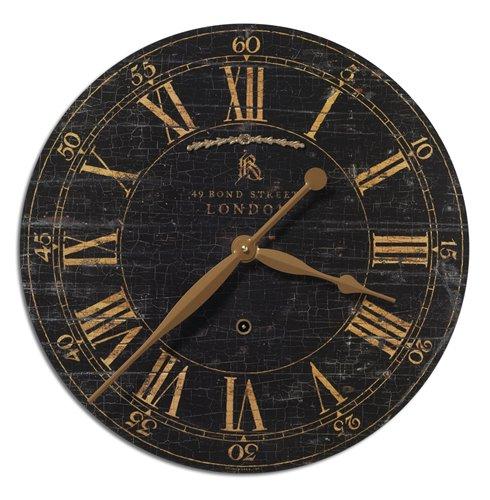 "Uttermost Bond Street 18"" Black Wall Clock"
