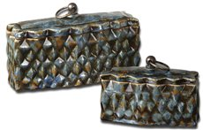 Uttermost Neelab Ceramic Containers, Set/2