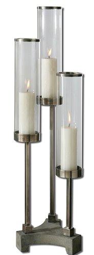 Uttermost Risto Brushed Aluminum Candleholder