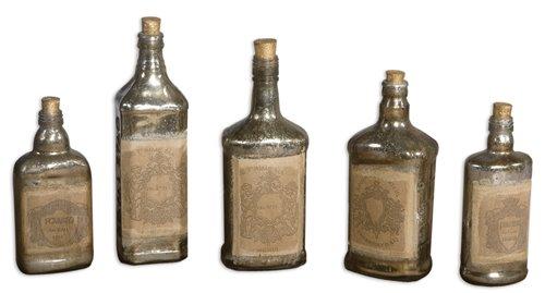 Uttermost Recycled Bottles Set/5