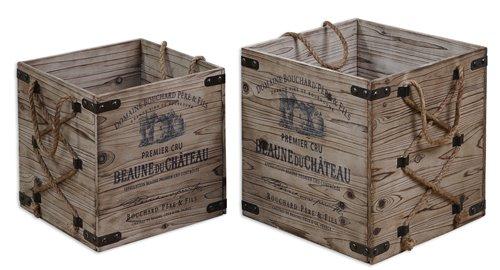 Uttermost Bouchard Crates Set/2