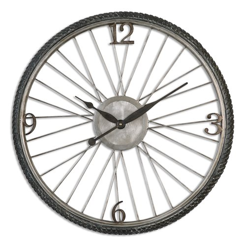 Uttermost Spokes Aged Wall Clock