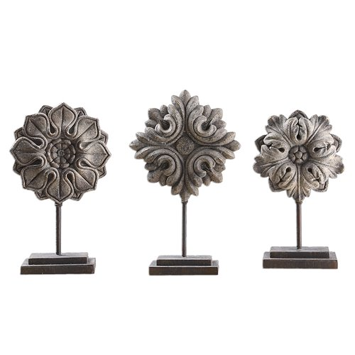 Uttermost Alarik Aged Ivory Florals, S/3