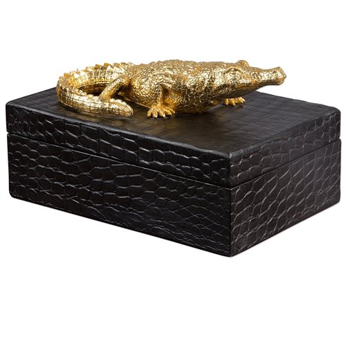 Uttermost Gold Crocodile Box