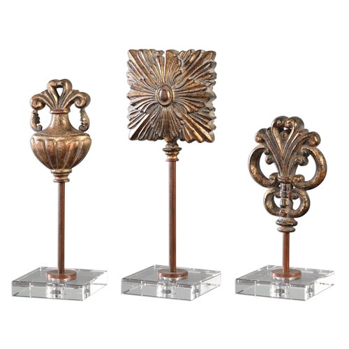 Uttermost Cesare Gold Accessories, S/3