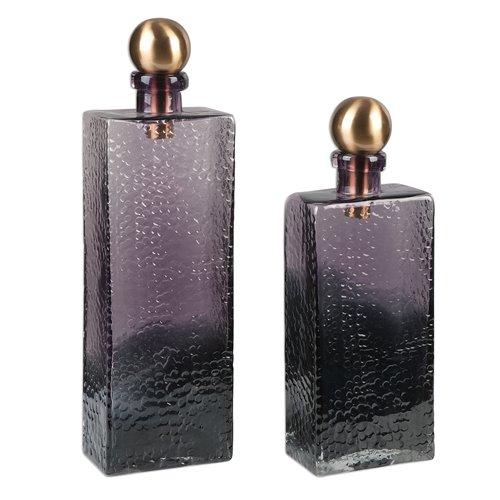 Uttermost Benedetto Glass Bottles, S/2