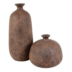 Uttermost Frederico Rustic Vases Set/2