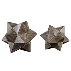 Uttermost Geometric Stars Concrete Sculpture Set/2