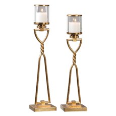 Uttermost Susana Gold Candleholders S/2