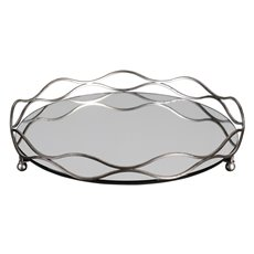 Uttermost Rachele Mirrored Silver Tray