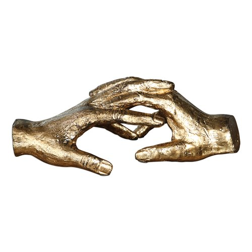 Uttermost Hold My Hand Gold Sculpture