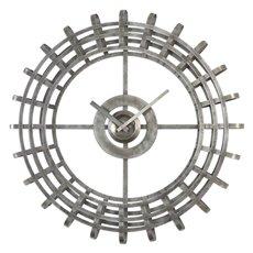 Uttermost Alphonse Silver Industrial Wall Clock